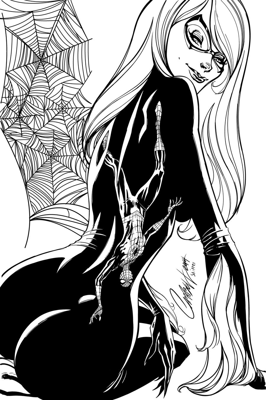 Blackcat Cover - Inks by Brianskipper