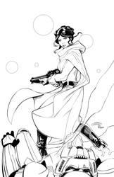 Princess Leia - Inks by Brianskipper