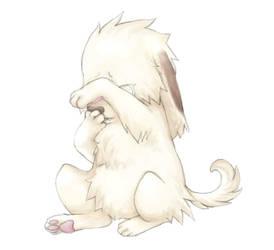 Puppy is sad by Kiwibon