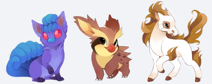 Pokemon fusions by Kiwibon