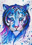 Tigre azul by JessiBeauvais