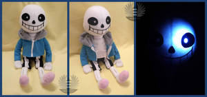 Sans Plush - Undertale - with light and sound by BoiraPlushies