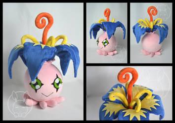 Yokomon / Pyocomon plush - Digimon by BoiraPlushies