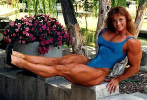 oldtime female bodybuilder by cribinbic