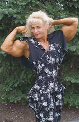 classy muscle lady by cribinbic