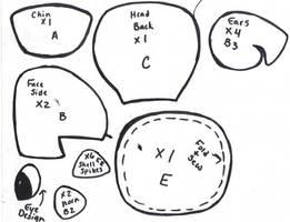 Pokedoll Lapras plush pattern (scan 2) by Kurosakou