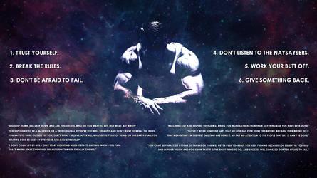 Arnold Schwarzenegger's Six Rules v2 by Goodvibez