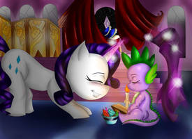 Rarity and Spike by noideasfornicknames
