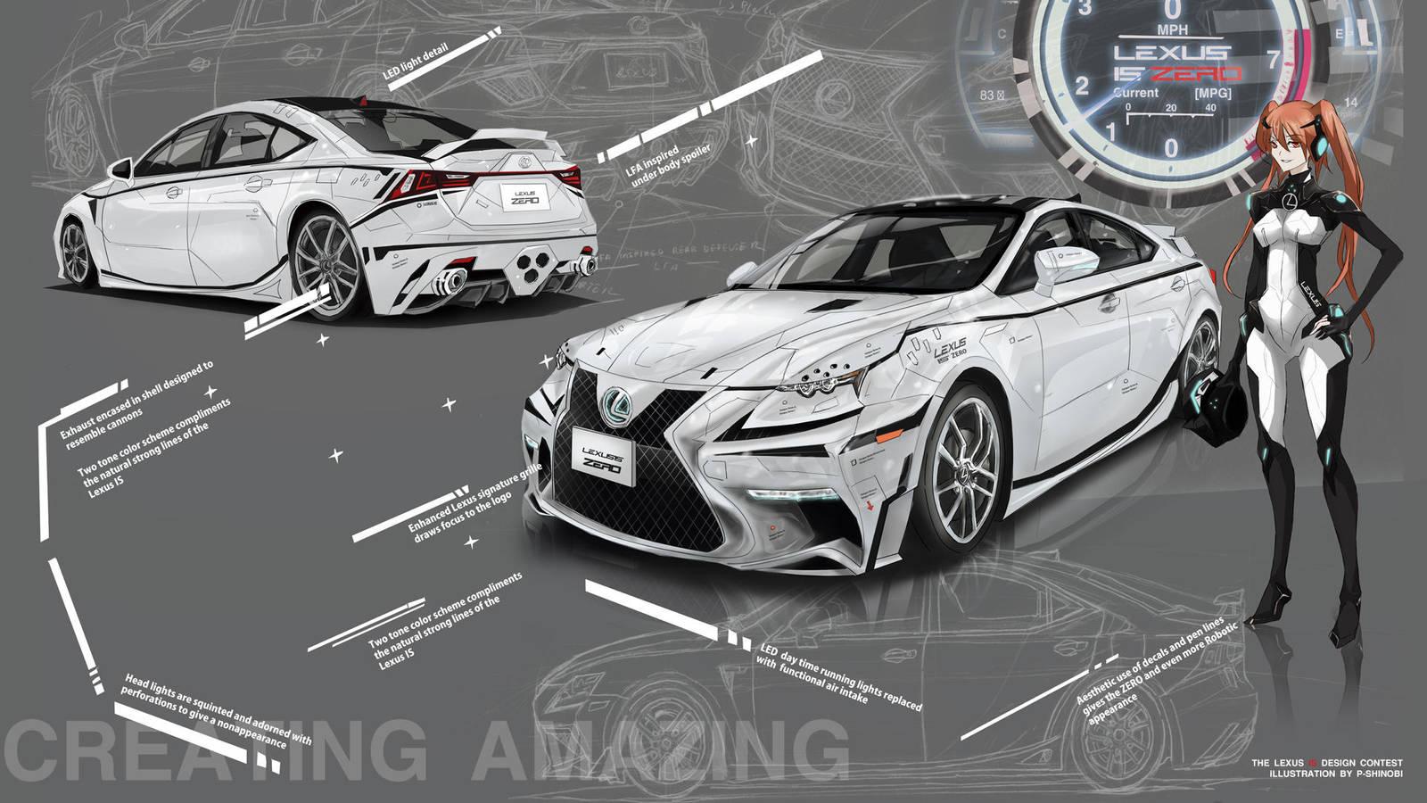 Lexus IS ZERO prototype by P-Shinobi