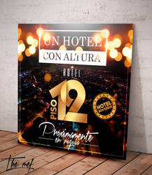 Flyer for hotel Piso12 by Themef