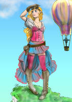 Colorful steampunk girl by lapaowan