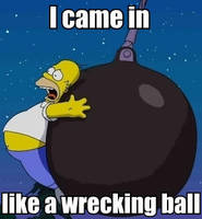 Wrecking Ball Homer by AlphaMoxley95