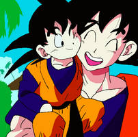Goku meets Goten by JtkBasketball