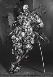 deadpool ::: light'em up - lineart by johngiang