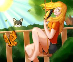 Sunny Little Dragon by kalukukiyam