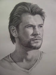 Chris Hemsworth final drawing by Samwise45