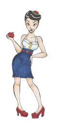 Rockabilly Snow White by timbermoonkiss