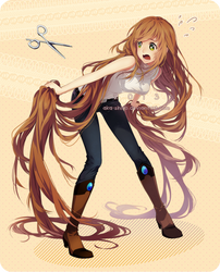 Not cutting my hair..! by Aka-Shiro