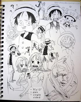 Sketchbook Page 8 [One Piece] by Aka-Shiro