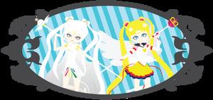 Sailor Cosmos and Eternal Sailor Moon by Sayuri-Chiba