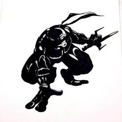 Shadow experiment with TMNT Raphael by Gary-ODD-Edmund