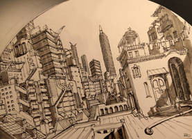 City Sketch by IllOO