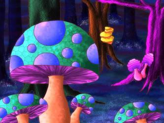 magic mushrooms by Nayadee