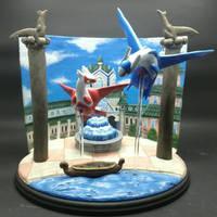 Alto Mare Latios and Latias Custom Backdrop Sculpt by MedusaSculpts