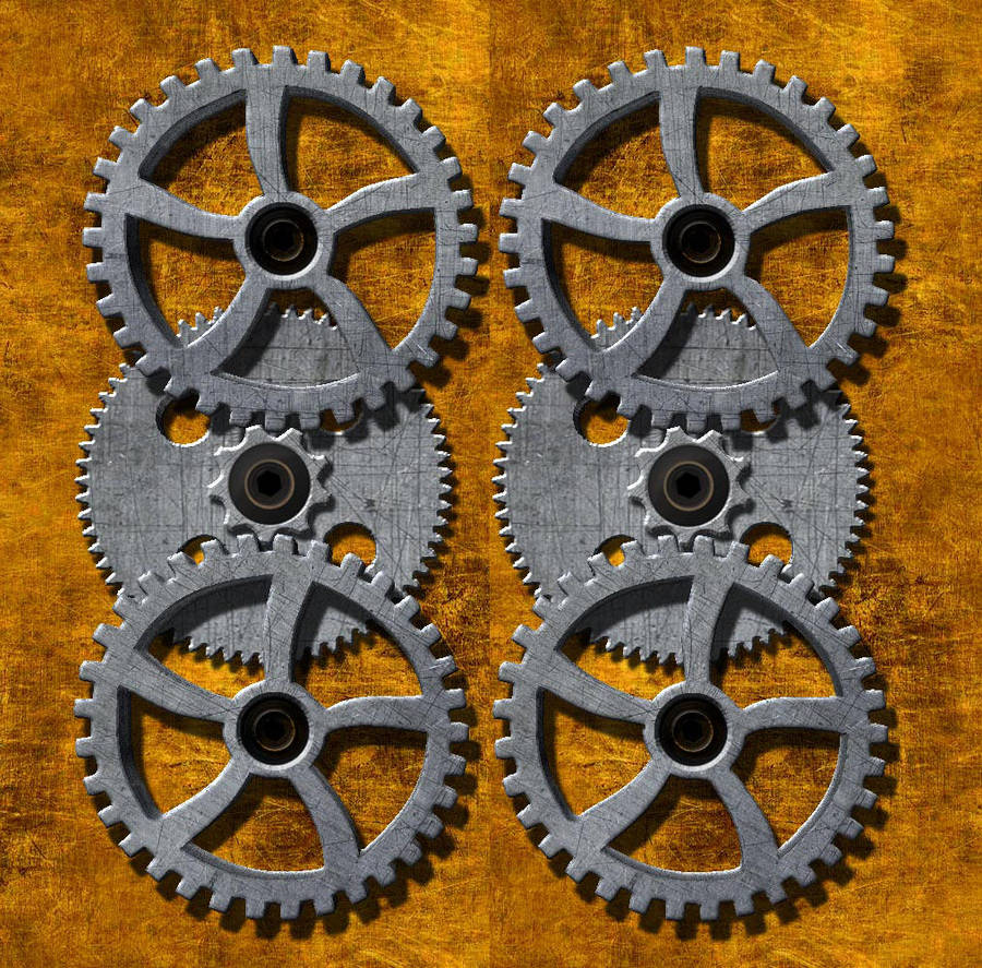3-D Gears - Cross your Eyes by fromthemargin