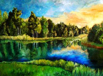 Estonian landscape by DoodleWithGlueGun