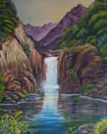The Falls Reflection by LonDiamond