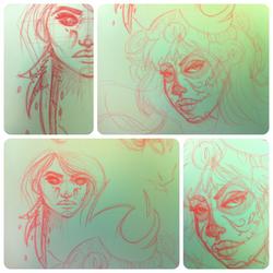 Moleskin sketches by RehanaKn
