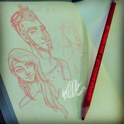 Moleskin Sketches 1 by RehanaKn