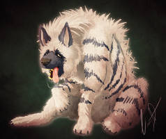 Striped Hyena by LinnyIllustrates