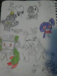 sketch page: school stuff by jellykens