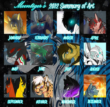 Moontiger's 2012 Summary Of Art by MoonTiger456