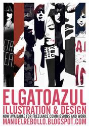 elgatoazul by noMirar