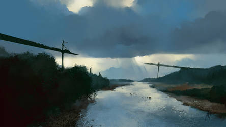 Anton Phoenix - Mountain river by antonphoenix