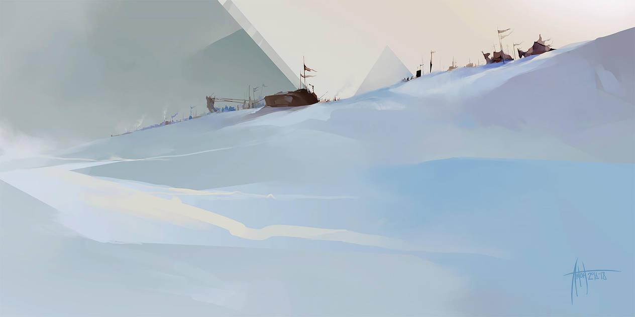 Anton Phoenix - Snow pyramids by antonphoenix