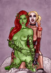 Harley + Ivy nude by Blissternal