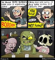 Dead Baby Humor by scythemantis