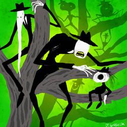 THE TREE OF EVIL MEN by scythemantis