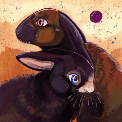 Commission Rabbits by Umbra-Avis