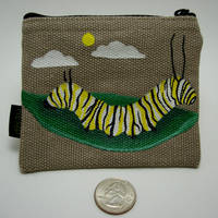 Monarch Caterpillar Coin Purse by burdock6