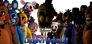 Cinema4D FNaF2 Pack DOWNLOAD!! by GaboCOart