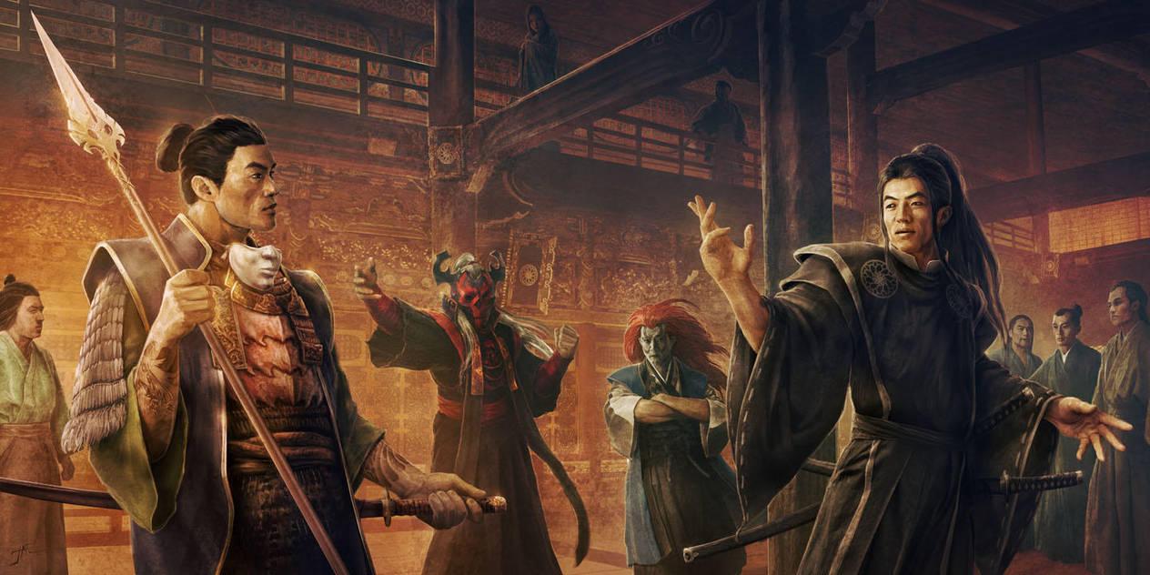 Shibatsu and Seiken at court by JasonEngle