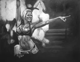 Kelly Kelly WWE Diva my painting by cliford417