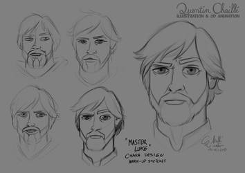 Master Luke - Warm-Up Sketches June 9th 2015 by qbgchaille