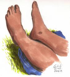 Les Pieds d'Emilie (Emilie's feet) June 20th 2015 by qbgchaille