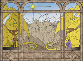 Pern dragon: Kadanzer Tapestry by Eregyrn
